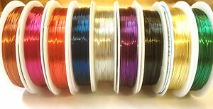 Copper-Wire-Tiara-Jewellery-Making-Beading-Wrapping-0-4mm-1mm-You-Choose