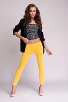 Womens Low Waist Rise Cotton Full Ankle Length Leggings Sizes 8/10/12/14