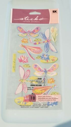 Sticko /'Vellum Dragonfly Dazzles/' Scrapbooking /& Craft Stickers~insects bugs