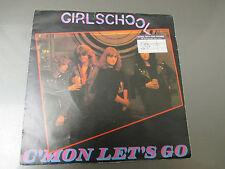 "1981 Girlschool – C'mon Let's Go UK 7"" 45 EX/VG+ Bronze BRO 126 Pic Sleeve"