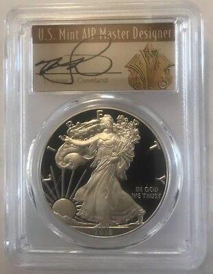 2018-S Proof $1 American Silver Eagle PCGS PR70DCAM FDOI Philadelphia ANA Label