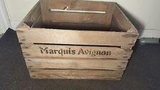 MARQUIS AVIGNON EUROPEAN OLD VINTAGE FRENCH WOODEN FARM APPLE CRATE BUSHELL BOX