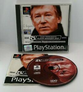 Alex Fergusons Player Manager 2001 für Sony Playstation ps1 PAL getestet