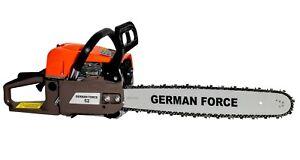 MOTOSIERRA-GERMAN-FORCE-A-GASOLINA-52CC-50CM-ESPADA-MOTOR-2T-2-0KW-CALIDAD