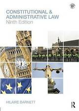 Constitutional & Administrative Law by Hilaire Barnett (Paperback, 2011)