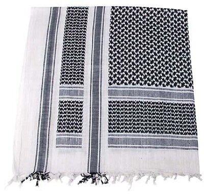 Shemag PLO Pali Kopf Tuch Outdoor BW Halstuch Military ISAF scarf  weiss schwarz