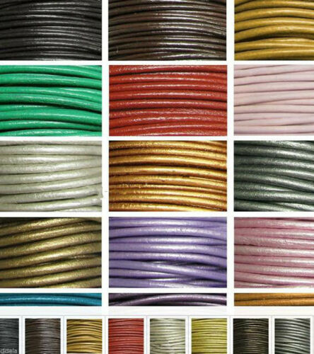 5 Meter Round Leather Rope String Cord Necklace Jewelry Making Finding DIY
