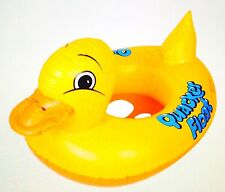 Inflatable bath toy duck shape - yellow float for young swimmers/bathers