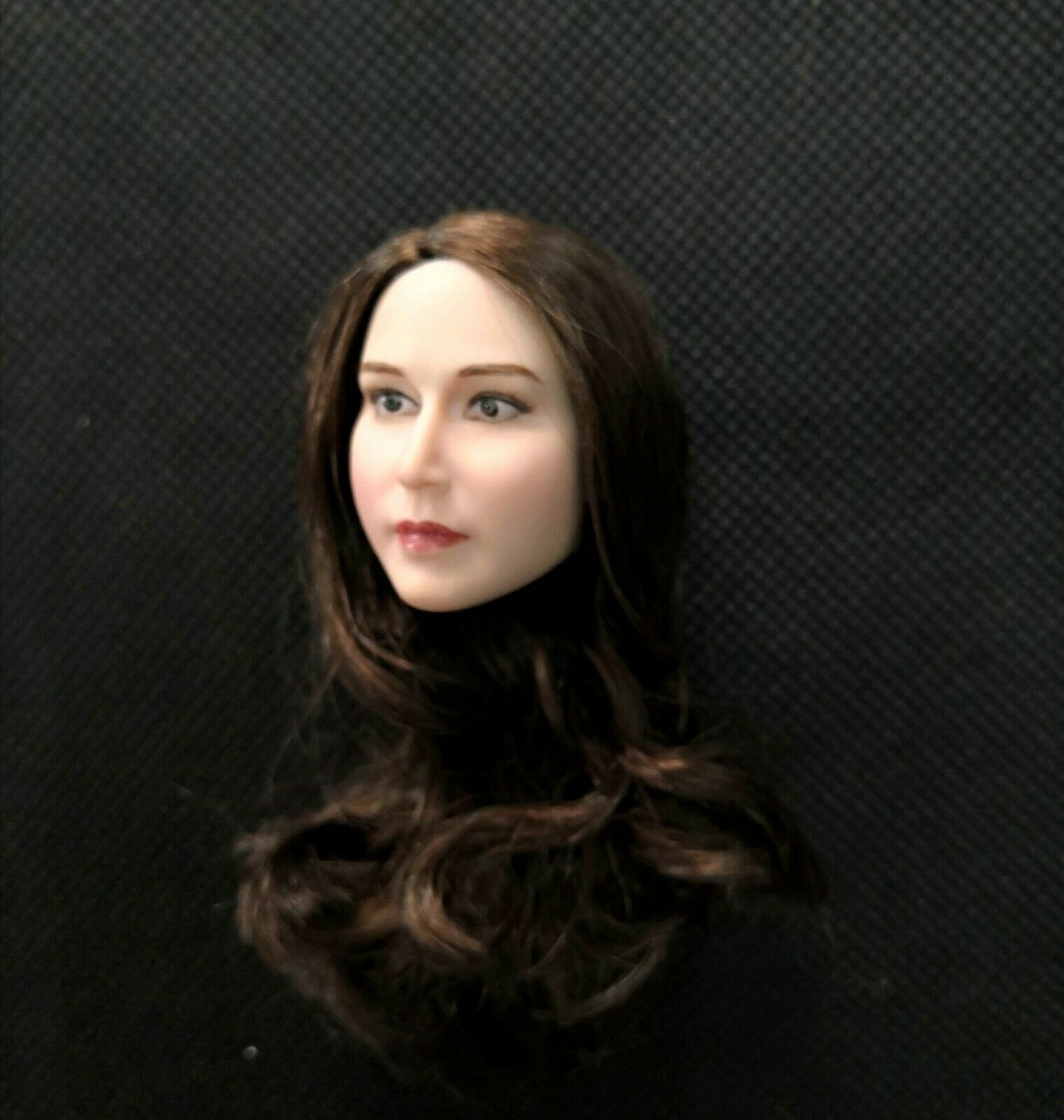 1 1 1 6 Scale Female Adele Head Sculpt White Skin Brown Hair Fit 12   Body Toys c0f721
