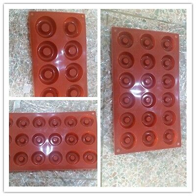 1x Kithcen Donut Doughnut Bunt Ring Chocolate Biscuit Candy Silicone Mold Pan B