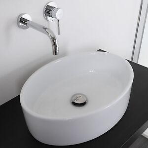 Lavabo da appoggio bagno in ceramica 50x35 lavandino lavello d 39 arredo promozione ebay - Lavandino appoggio bagno ...