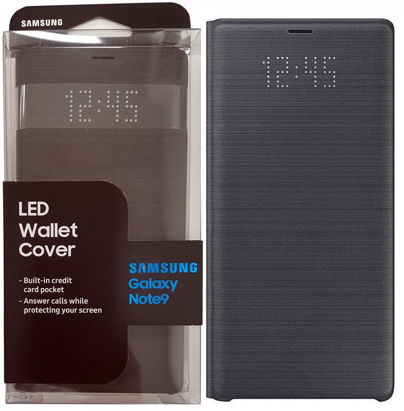 reputable site a5b97 24b39 Original Samsung Galaxy Note 9 LED Wallet Cover Folio Case - Black