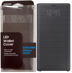 factory authentic dbdbe 16144 Details about Original Samsung Galaxy Note 9 LED Wallet Cover Folio Case -  Black