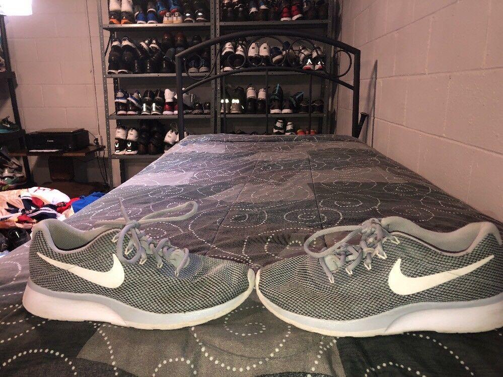 Nike Tanjun Racer Racer Racer Mens Running Training Shoes Size 9 Gray Black White 463b6d