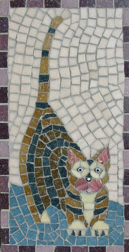 Mosaic kit choice of 5 designs  30cm x 15cm by Martin Cheek with tile nippers