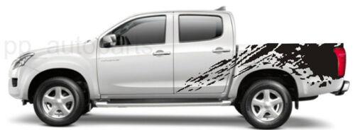 MATTE BLACK COLOR STICKER COVER CAR DECAL VINYL 4 DOOR FOR ISUZU D-MAX 12 13 V2