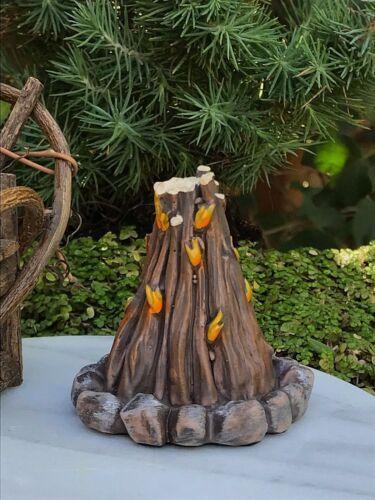Miniature Dollhouse FAIRY GARDEN ~ Mini Resin Campfire Bonfire ~ NEW