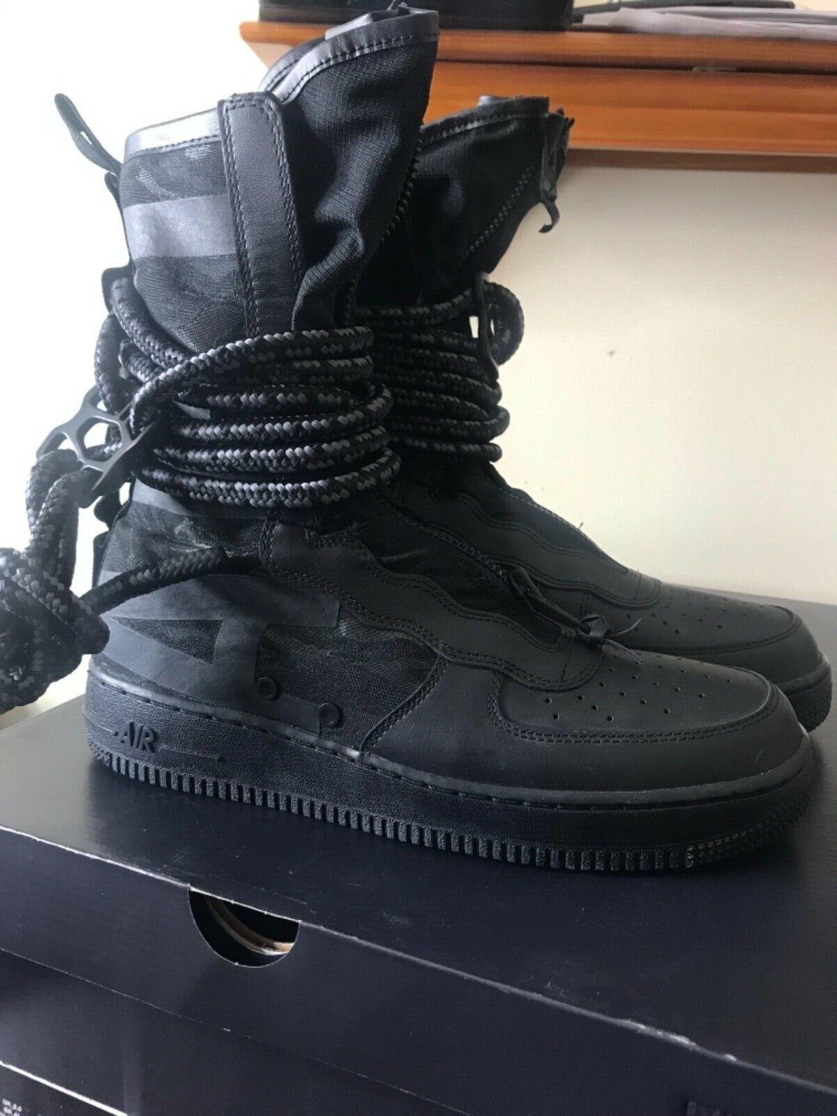 Nike SF AF1 Hi Special Force Air Force Black Grey  Mens 9.5 10.5 AA1128-002
