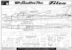 Details about Graupner Filu plans r/c glider