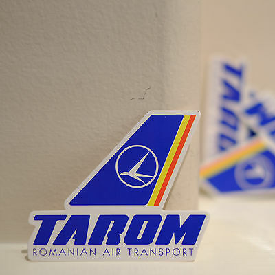 "#4089 Tarom Romanian Air Transport Airline Travel luggage label 3/"" Decal STICKER"