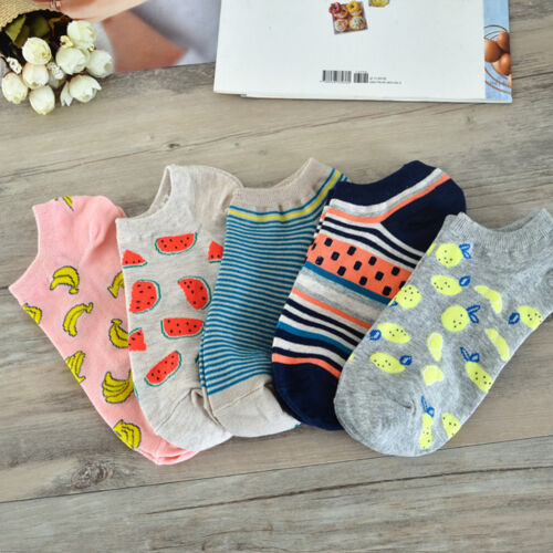 1 Pair Cute Casual Cotton Women Girl Fruit Short Socks Ankle Sock Soft Boat Sock