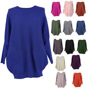 5df9ecda9e5 Image is loading Ladies-Italian-Knitted-Batwing-Plait-Back-Jumper-Women-