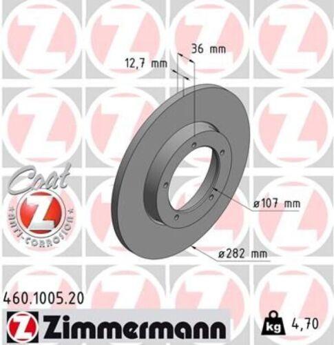 2x ZIMMERMANN Bremsscheibe Bremsscheiben Satz Bremsen COAT Z Vorne 460.1005.20