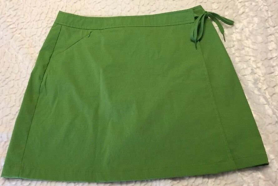 Women's Athleta Skirt Wrap Green Size M  Side Tie Nylon K2  40% off