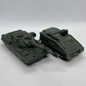 DINKY-TOYS-CHIEFTAIN-TANK-683-amp-ALVIS-scorpion-amp-striker-691-MECCANO-LTD