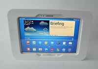 Samsung Galaxy Tab 3 4 10.1 White Acrylic Security Case W Wall Mount Kit