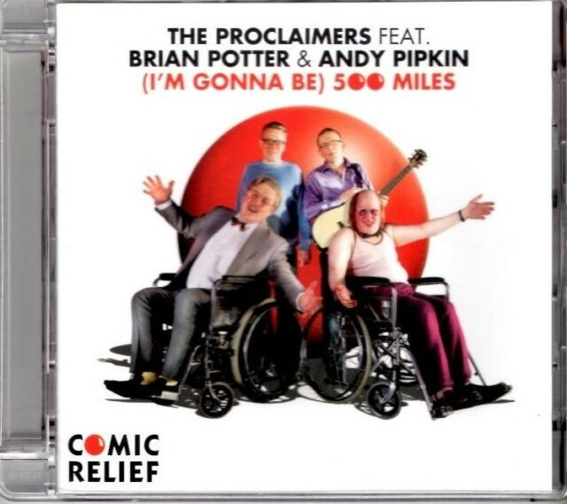 THE PROCLAIMERS feat BRIAN POTTER  500 Miles 3 TRACK DVD NEW - NOT SEALED