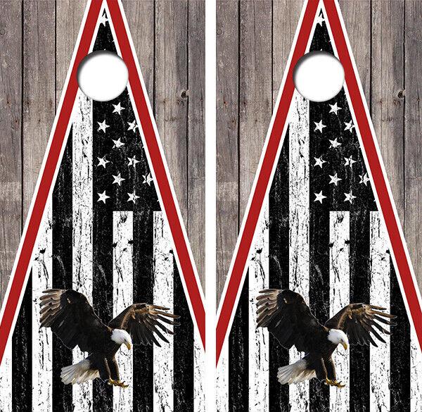 Eagle Flag Cornhole Board Wraps Decal