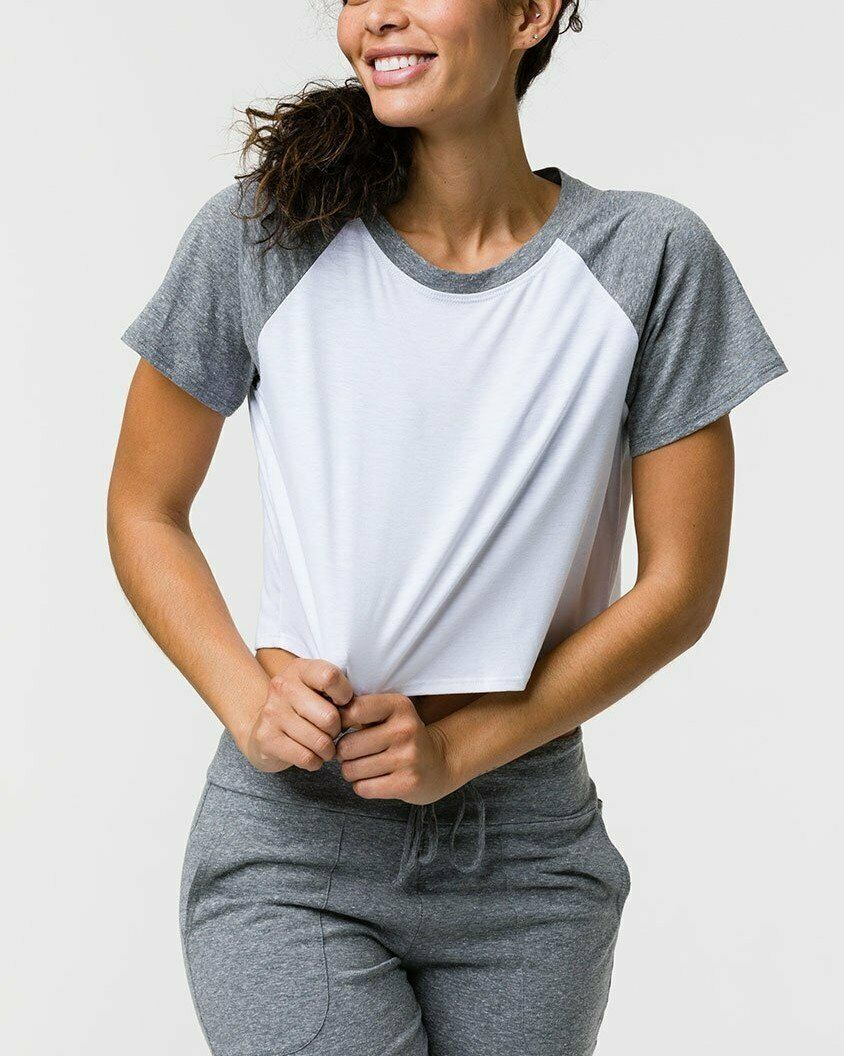 Onzie Hot Yoga Baseball Crop Tee Shirt 3734 more colors to choose from!