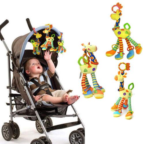 Infant Baby Development Soft Giraffe Animal HandbellsIUattles Handle Toys PM