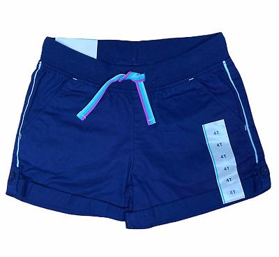 Cat /& Jack Girl/'s Shorts Drawstring Eyelet Navy Blue Size 3T Summer Spring NEW