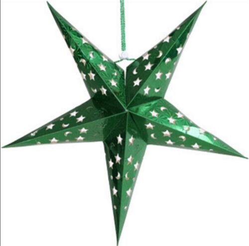 Xmas String Hanging Star Christmas Party Decoration Christmas Tree Ornament 30CM