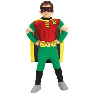 Image is loading Robin-Costume-Kids-and-Toddler-Batman-Superhero-Halloween-  sc 1 st  eBay & Robin Costume Kids and Toddler Batman Superhero Halloween Fancy ...