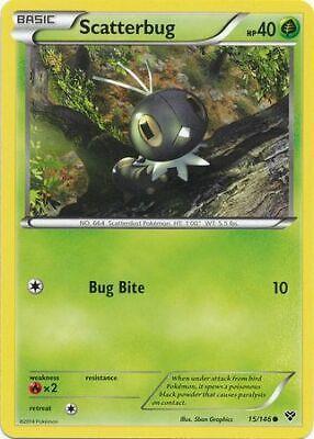 XY Base Set Common Pokemon Card - NM 2014 Scatterbug 15//146