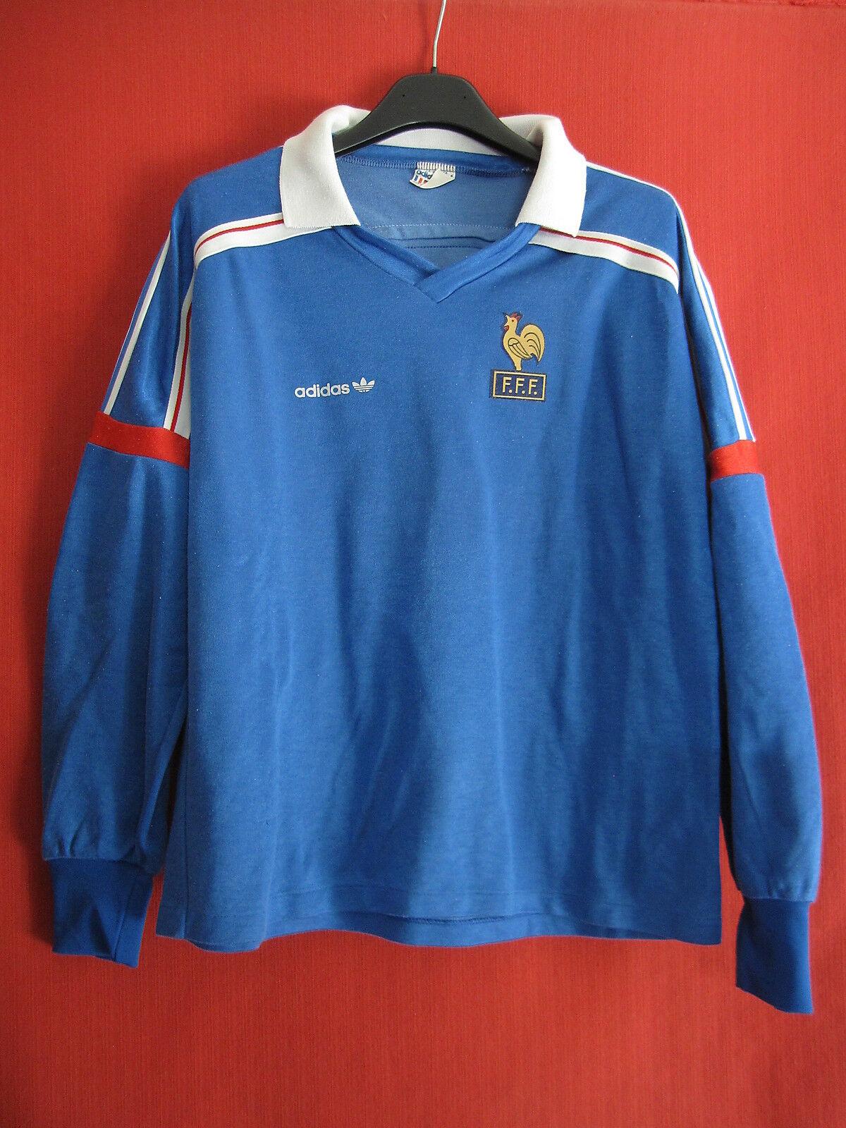 Maillot Equipe France 1986 Adidas Vintage Football Shirt ventex - S   M