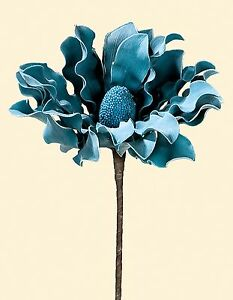 K nigs magnolie bl te in petrol h he 85 cm kunstblume dekoration f vase ebay - Dekoration petrol ...