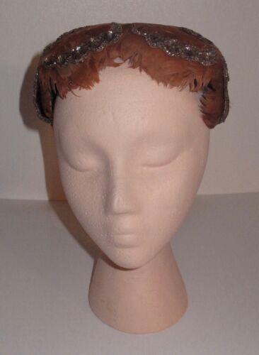 Vintage 50's Norman Durand Original Feather Hat