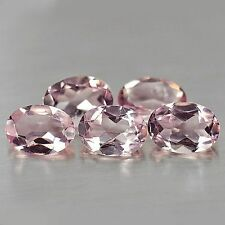 MORGANITE OVAL CUT 7X5 MM ALL NATURAL SOFT PINK