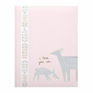 C-R-Gibson-Pink-039-I-Love-You-So-039-First-Five-Years-Girl-Memory-Baby-Book
