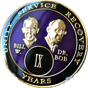 NEW Alcoholics Anonymous Blue Tri-Plated Masked Bill /& Bob 2020 Medallion