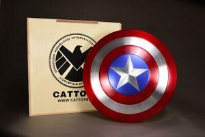 Cattoys-Marvel-Avengers-Captain-America-Shield-1-1-Metal-Statue-Model-Figure-22-034