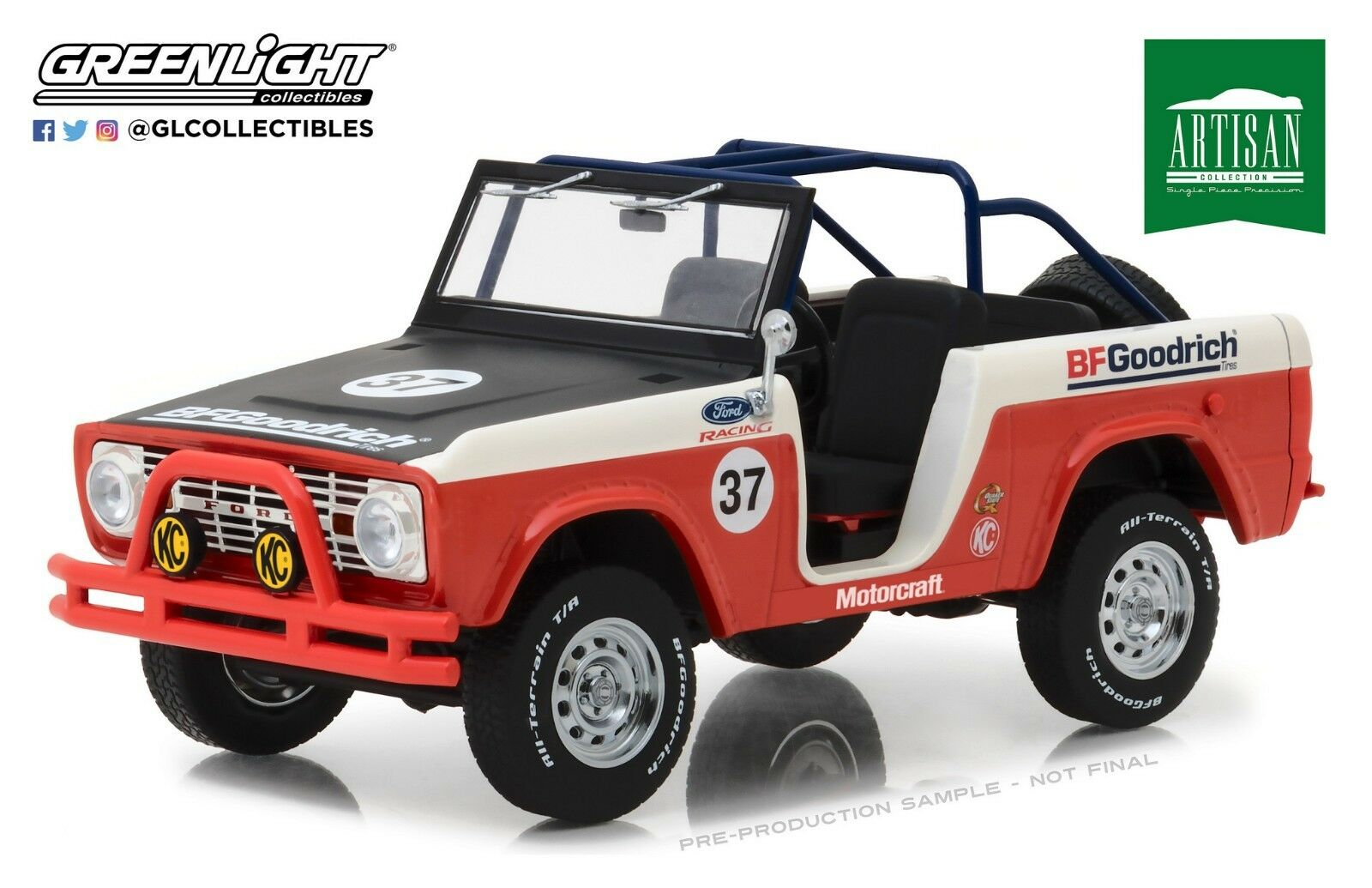 verdelight 1 18 Artisan Collection Collection Collection - 1966 Ford Bronco  37 Bfgoodrich 19037 Baja 0787fc