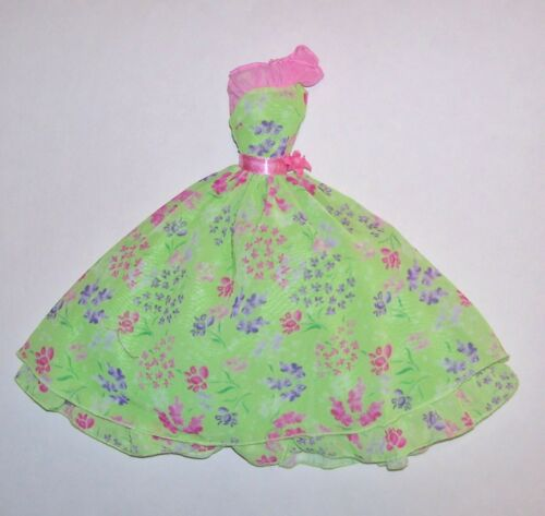 MATTEL BARBIE DOLL GREEN /& PINK FLORAL SPRING CE DRESS NEW FROM PACKAGE *LOOSE*