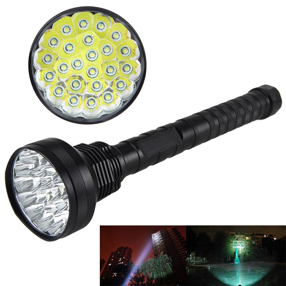 32000LM 24x XML T6 LED Lampe de poche 5 5 5 Modes Torch 26650/18650 Lamp Lumière 701c21