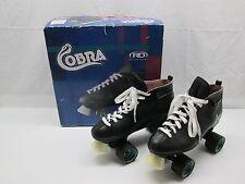 Cobra Roller Derby Speed Skates Riptide Raw Speed Wheels Size 11 Black