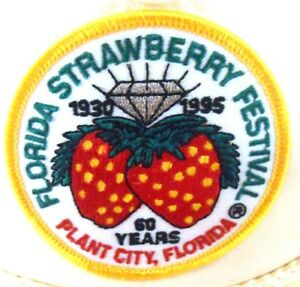 Florida-Strawberry-Festival-Plant-City-FL-60-Years-Patch-Strapback-Cap-Hat
